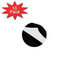 White and black decorative design 1  Mini Buttons (10 pack)