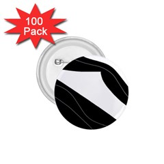 White and black decorative design 1.75  Buttons (100 pack)