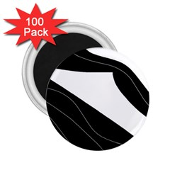 White and black decorative design 2.25  Magnets (100 pack)