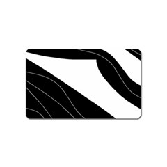 White and black decorative design Magnet (Name Card)