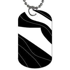White and black decorative design Dog Tag (Two Sides)