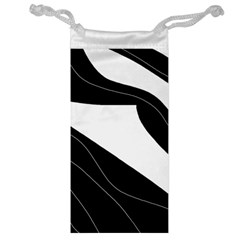 White and black decorative design Jewelry Bags
