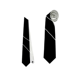 White and black decorative design Neckties (Two Side)