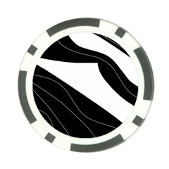 White and black decorative design Poker Chip Card Guards