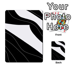 White and black decorative design Multi-purpose Cards (Rectangle)