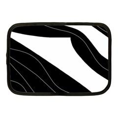 White and black decorative design Netbook Case (Medium)