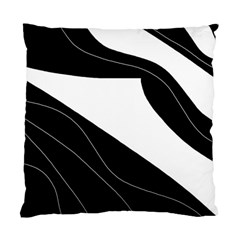 White and black decorative design Standard Cushion Case (Two Sides)