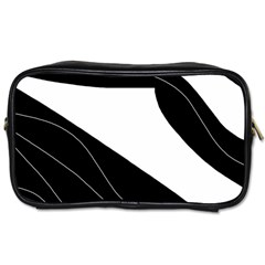 White and black decorative design Toiletries Bags 2-Side