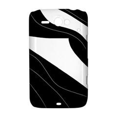 White and black decorative design HTC ChaCha / HTC Status Hardshell Case