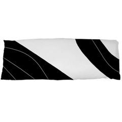 White and black decorative design Body Pillow Case Dakimakura (Two Sides)
