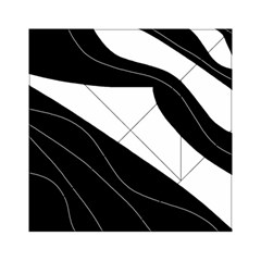 White and black decorative design Acrylic Tangram Puzzle (6  x 6 )