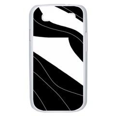White and black decorative design Samsung Galaxy S III Case (White)