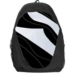 White and black decorative design Backpack Bag