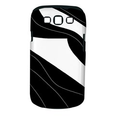 White and black decorative design Samsung Galaxy S III Classic Hardshell Case (PC+Silicone)