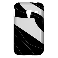 White and black decorative design Samsung Galaxy Ace Plus S7500 Hardshell Case