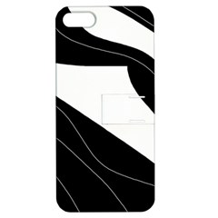 White and black decorative design Apple iPhone 5 Hardshell Case with Stand