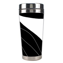 White and black decorative design Stainless Steel Travel Tumblers