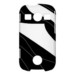 White and black decorative design Samsung Galaxy S7710 Xcover 2 Hardshell Case