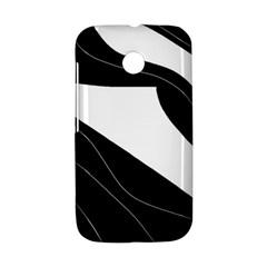 White and black decorative design Motorola Moto E
