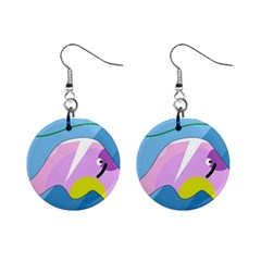 Under the sea Mini Button Earrings