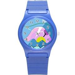 Under the sea Round Plastic Sport Watch (S)