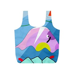 Under the sea Full Print Recycle Bags (S)