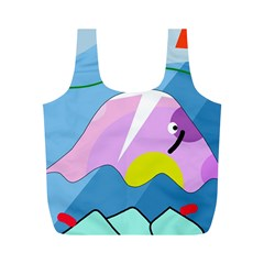 Under the sea Full Print Recycle Bags (M)