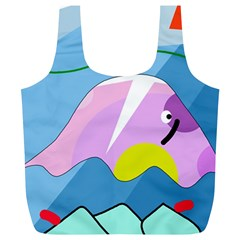 Under the sea Full Print Recycle Bags (L)