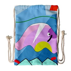 Under the sea Drawstring Bag (Large)