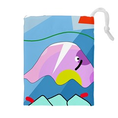 Under the sea Drawstring Pouches (Extra Large)
