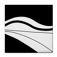 White and black harmony Tile Coasters