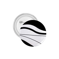 White and black harmony 1.75  Buttons