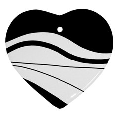 White and black harmony Ornament (Heart)