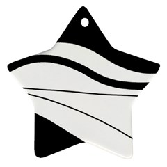 White and black harmony Ornament (Star)