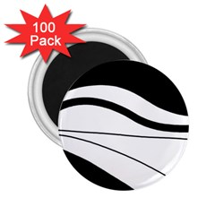 White and black harmony 2.25  Magnets (100 pack)