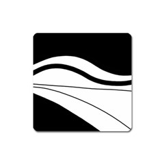 White and black harmony Square Magnet