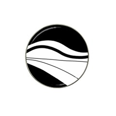 White and black harmony Hat Clip Ball Marker (10 pack)