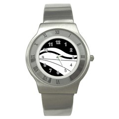 White And Black Harmony Stainless Steel Watch