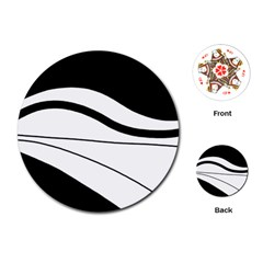 White and black harmony Playing Cards (Round)