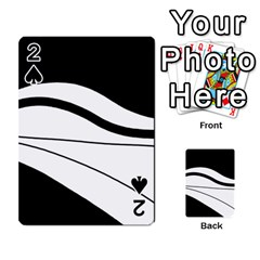 White and black harmony Playing Cards 54 Designs