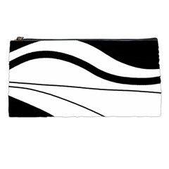 White and black harmony Pencil Cases