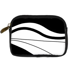 White and black harmony Digital Camera Cases