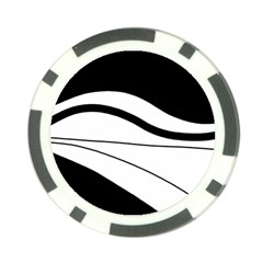 White and black harmony Poker Chip Card Guards (10 pack)
