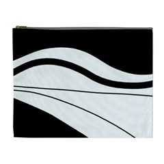 White and black harmony Cosmetic Bag (XL)