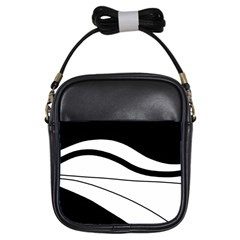 White and black harmony Girls Sling Bags