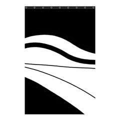 White and black harmony Shower Curtain 48  x 72  (Small)
