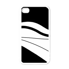 White and black harmony Apple iPhone 4 Case (White)