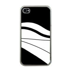 White and black harmony Apple iPhone 4 Case (Clear)