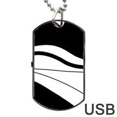 White and black harmony Dog Tag USB Flash (Two Sides)