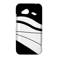 White and black harmony HTC Droid Incredible 4G LTE Hardshell Case
